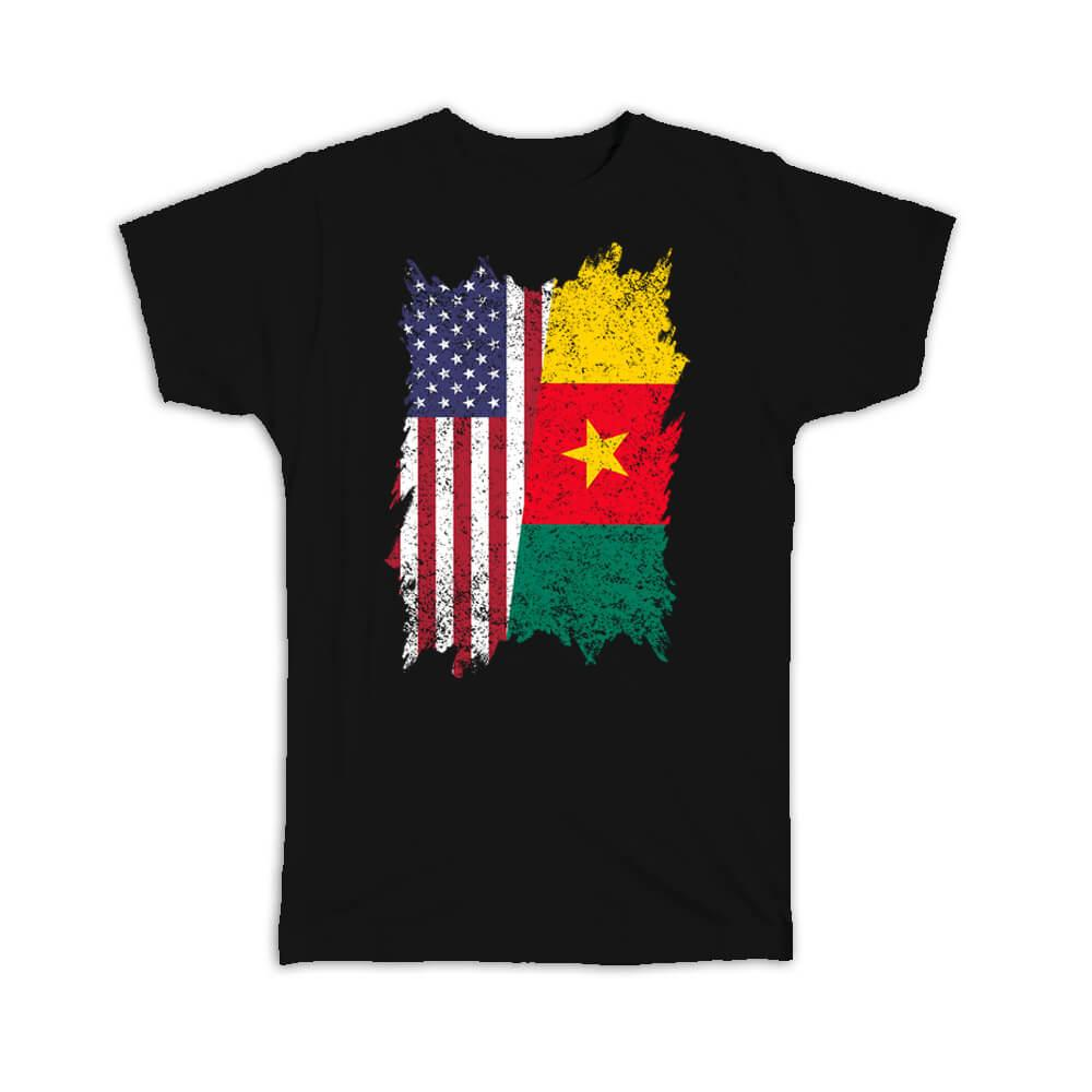 United States Cameroon : Gift T-Shirt American Cameroonian
