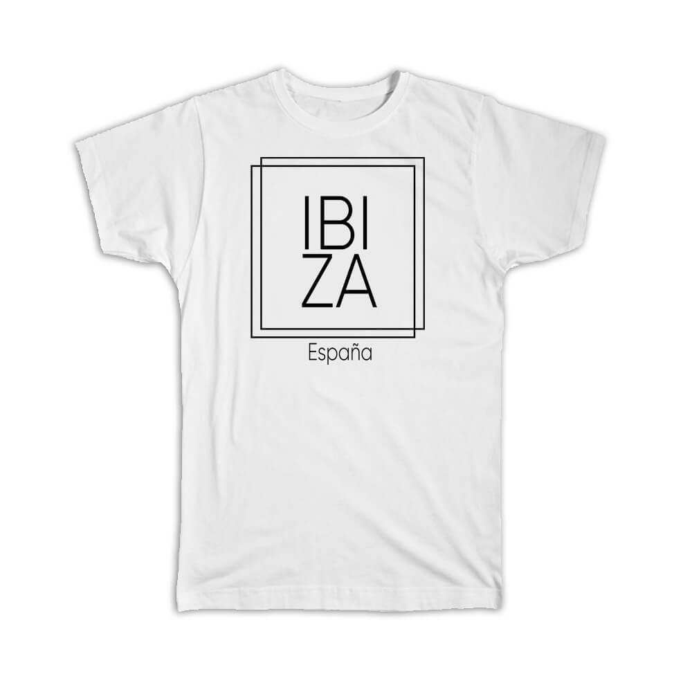 Ibiza : Gift T-Shirt Square Souvenir Travel Beach España Spain