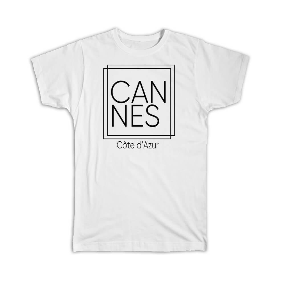 Cannes : Gift T-Shirt Square Souvenir Travel Beach Côte d'Azur France