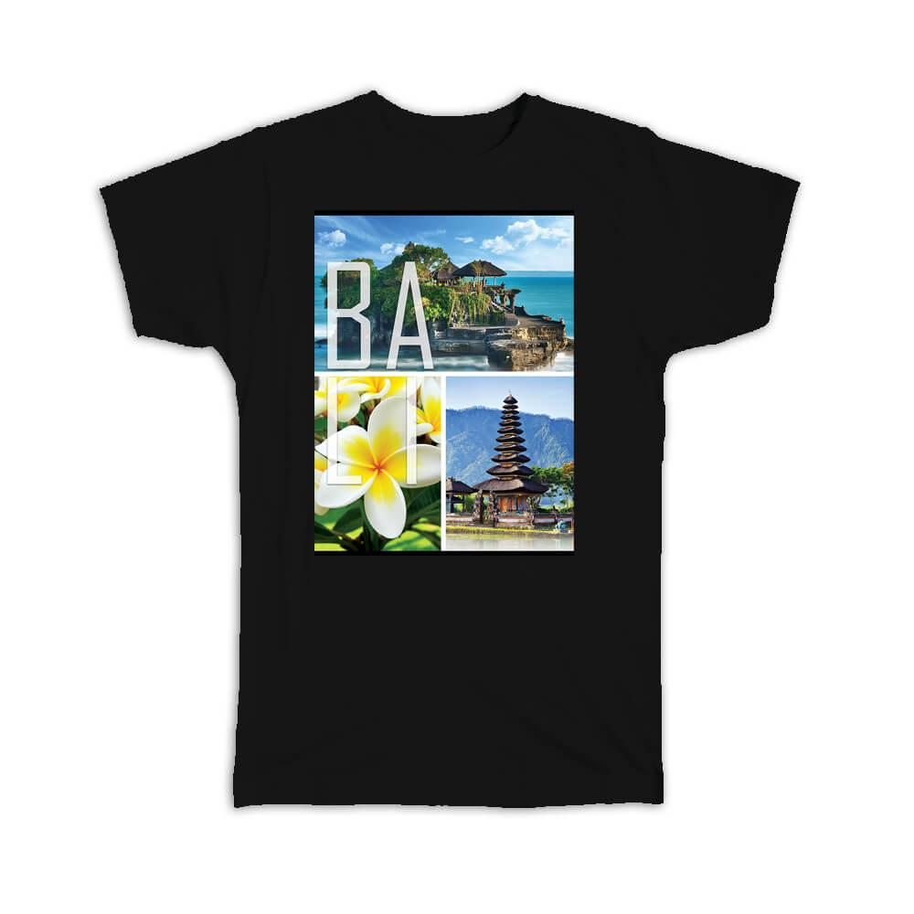 Bali Indonesia : Gift T-Shirt Country Indonesian Balinese Souvenir Temple Beach