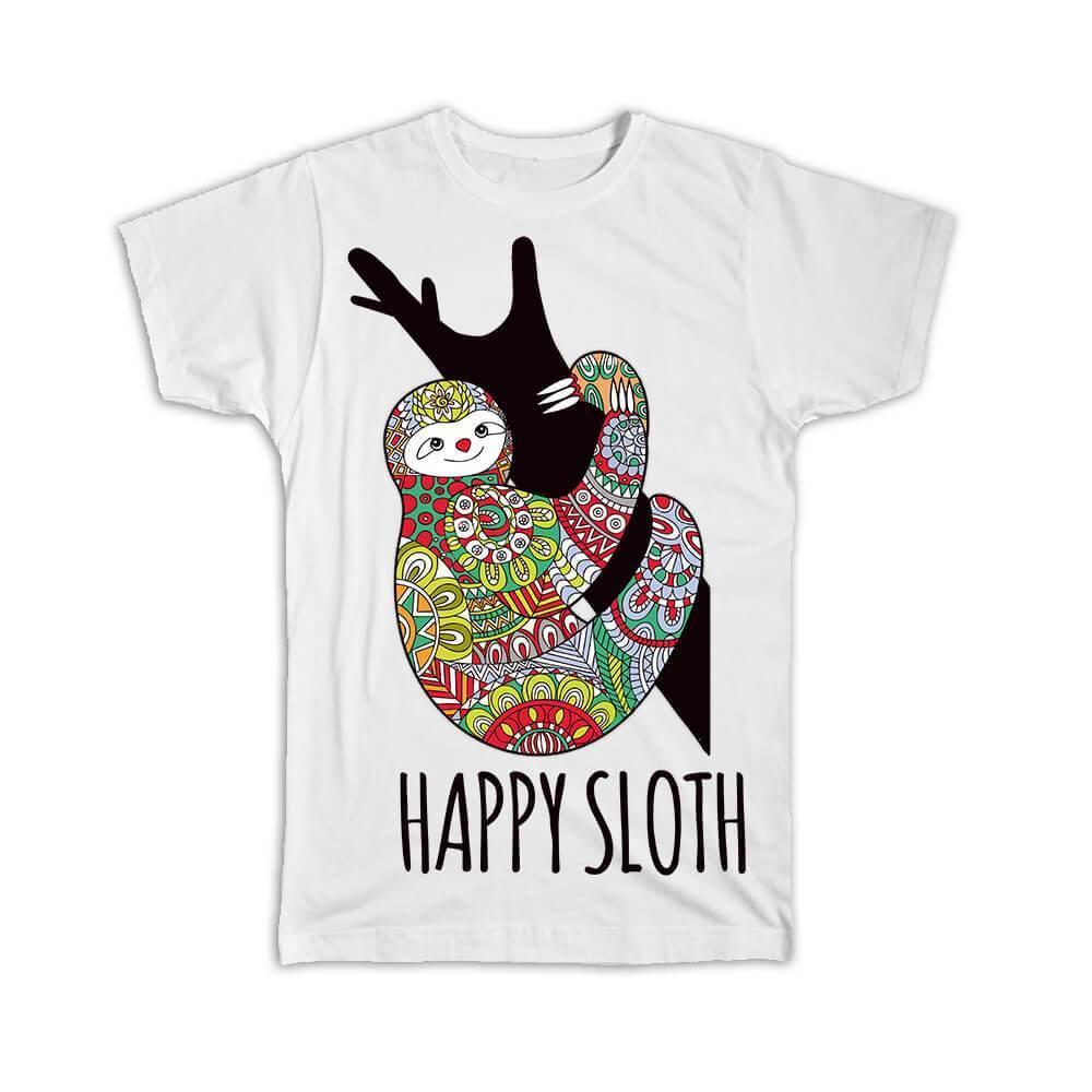 Sloth : Gift T-Shirt Cartoon Trendy Cute Animal Amazon Bear Endangered