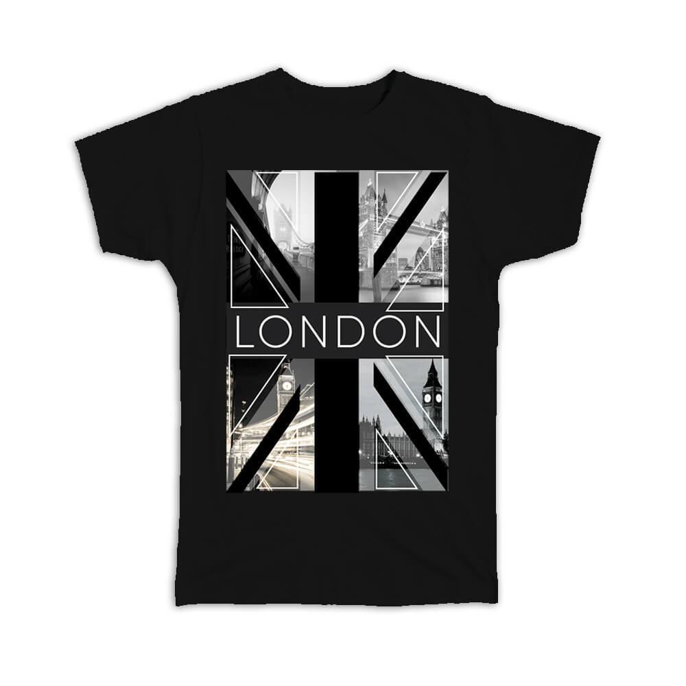 London Black and White : Gift T-Shirt Photography Travel England Souvenir