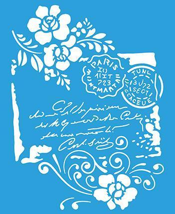 Text 6 3/4 x 8 1/4 in : Diy Reusable Laser Cut Stencil 17x21cm Wood Fabric