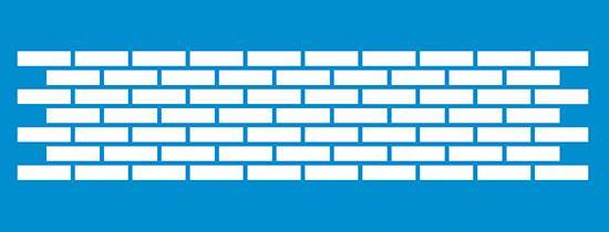 Brick Wall 6 3/4×2.5 in : Diy Reusable Laser Cut Stencils 17×6 5cm Frame Swirl